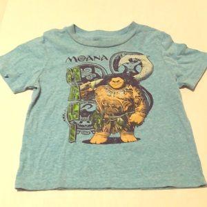 Disney Moana t shirt soft comfy Maui shirt 4T EUC
